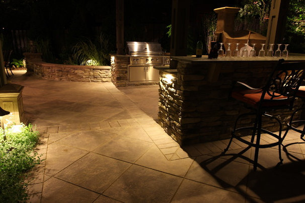 Traditional Patio by The Pool Artist | Brian T. Stratton