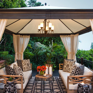 Patio - transitional patio idea in Los Angeles with a gazebo