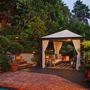 Transitional patio photo in Los Angeles with a gazebo