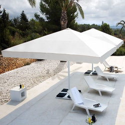 Big Ben Umbrella for Home or Hospitality - The Big Ben umbrella is available in sizes up to 20' square for shading large amounts of space with a single umbrella.