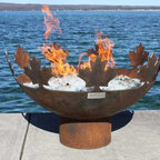 Big Bowl O' Canada Sculptural Firebowl - The Big Bowl O Canada takes it's name from Canada's National Anthem, composed in 1880 by Calixa Lavallée, a talented musician whose father worked as a woodcutter, blacksmith and luthier. Although many variations of the song exist, in multiple languages, the tune is the same for all. I couldn't resist the connection between music and sculpture, between firebowls, lumberjacks and blacksmithing. The idea of art arising from hard work, skill and a grounding in the natural world is at the heart of this design.