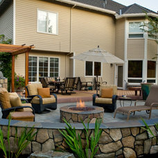 Traditional Patio by Big Sky Landscaping