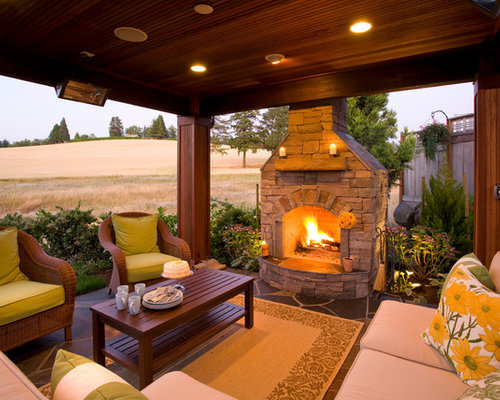 Elegant Patio Photo In Portland With A Fire Pit