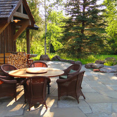 Traditional Patio by HABITAT Landscape Architecture