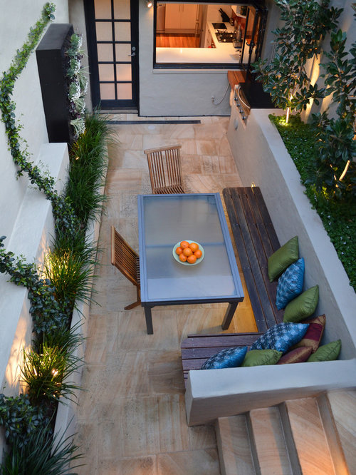 Example Of A Small Trendy Courtyard Patio Vertical Garden Design In Sydney