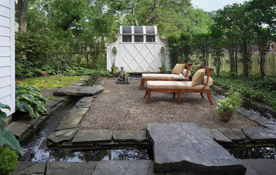 Patio of the Week: Koi Glide Around a Tranquil Garden's Moat