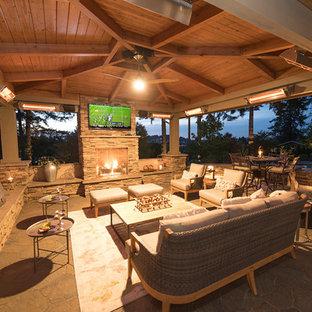 Immagine di un patio o portico american style