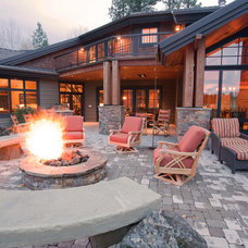 Traditional Patio by Norman Building & Design