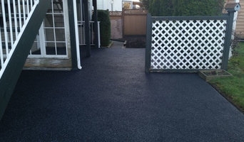 Black with grey fleck rubber patio