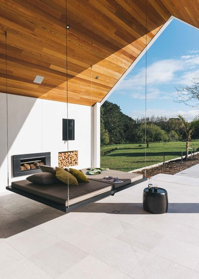 Contemporary Patio by Architectural Designers New Zealand