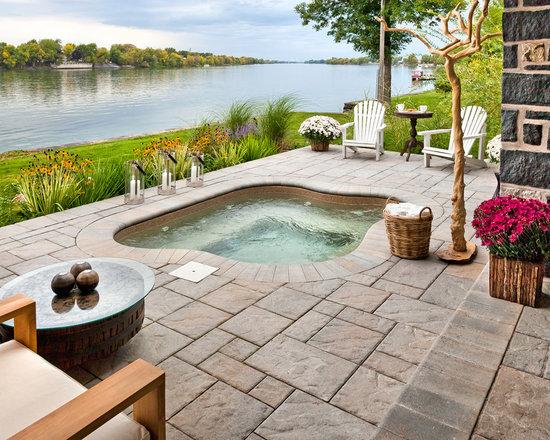hot tub patios | houzz - Hot Tub Patio Designs