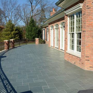 Blue Slate Stone Backyard Patio