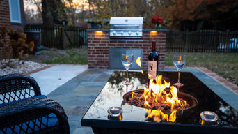 Blue Stone Patio with Grill