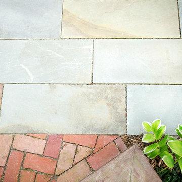 Bluestone into brick transition