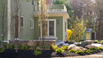 Bluestone patio and plantings replace a tired old deck!