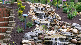 Bluestone Patio with Fire Pit & Water Feature