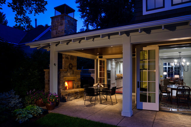 Traditional Patio by Locati Architects