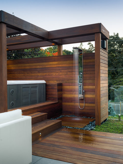 Douche ext rieure photos et id es d co de douches for Idees terrasses exterieures