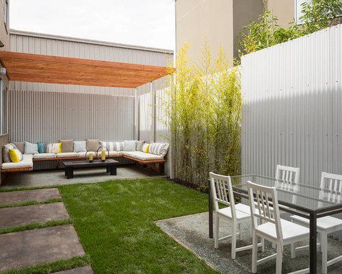 Corrugated Metal Fence Houzz