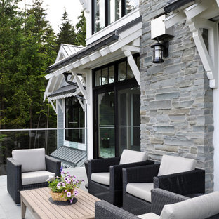 Transitional patio photo in Vancouver with no cover