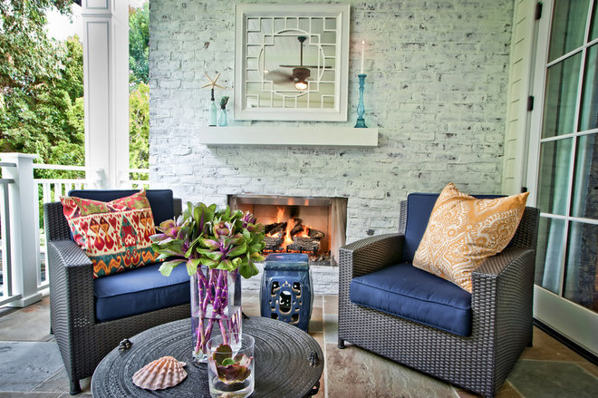 Contemporary Patio by Jill Wolff Interior Design