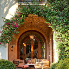 Mediterranean Patio by Sinclair Associates Architects