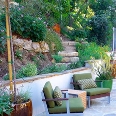 Midcentury Patio by Susan Jay Design