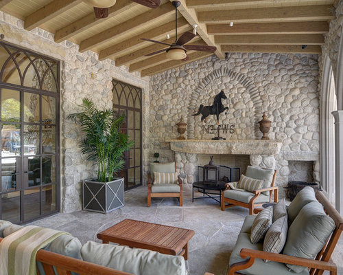 beautiful homes interior design. Inspiration for a large timeless backyard stone patio remodel in Dallas  with fire pit and The Most Beautiful Houses Houzz