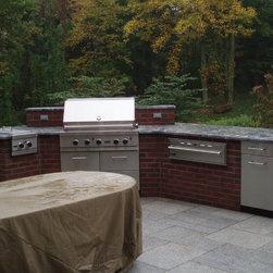 BRICK EXTENSION - Outdoor kitchen designer Michael Gotowala THE OUTDOOR KITCHEN DESIGN STORE by PREFERRED PROPERTIES.Cheshire, Ct.