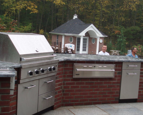 Brick Terrace Extension Outdoor Kitchen