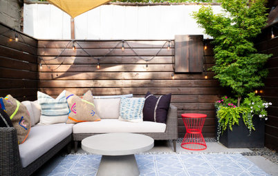 Laid-Back Boho Style Perks Up a Small Brooklyn Patio