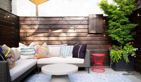 Laid-Back Boho Style Perks Up a Small Brooklyn Patio