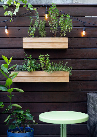 Eclectic Patio by Brooklinteriors LLC