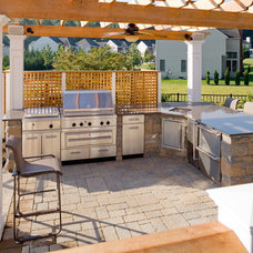 Eclectic Patio by Land & Water Design