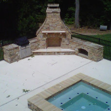 Traditional Patio by Proland Development