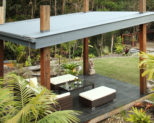 Pergola Corrugated Roof Houzz