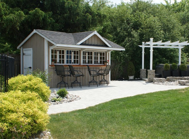 Traditional Patio by Karyn Miller Design