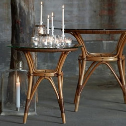 Cafe Rattan Tables by Sika-Design - http://www.sika-design.com/collections/originals