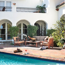 Mediterranean Patio by JAG Interiors, Inc.