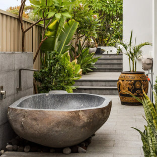 Design ideas for a contemporary patio in Perth with an outdoor shower and no cover.