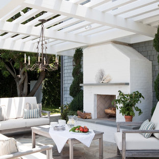 Houzz & 75 Most Popular Beach Style Patio with a Pergola Design Ideas for ...