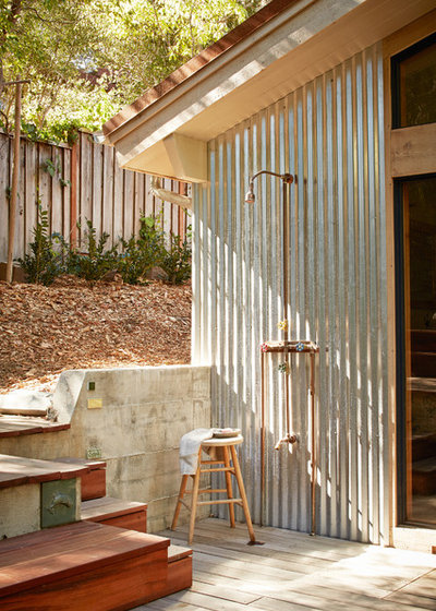 Rustic Patio by Staprans Design
