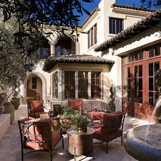 Mediterranean Patio by Sennikoff Architects
