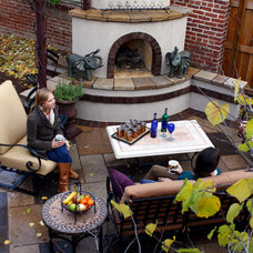 Mediterranean Patio by Ivy Street Design