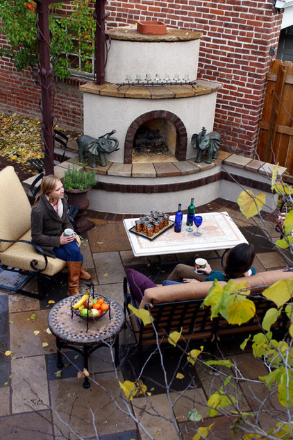 Eclectic Patio by Ivy Street Design