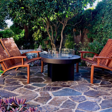 Campfire Reclinging Loveseats and Lounge Chairs in African Mahogany