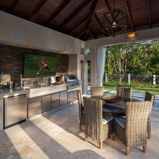 Ordinaire 75 Beautiful Tropical Outdoor Kitchen Design Pictures ...