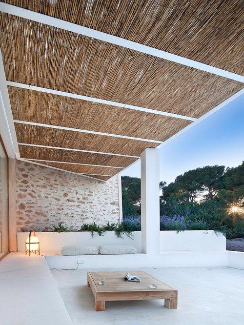 Mediterranean Patio with Concrete Slabs Design Ideas ... on Concrete Slab Backyard Ideas id=21863