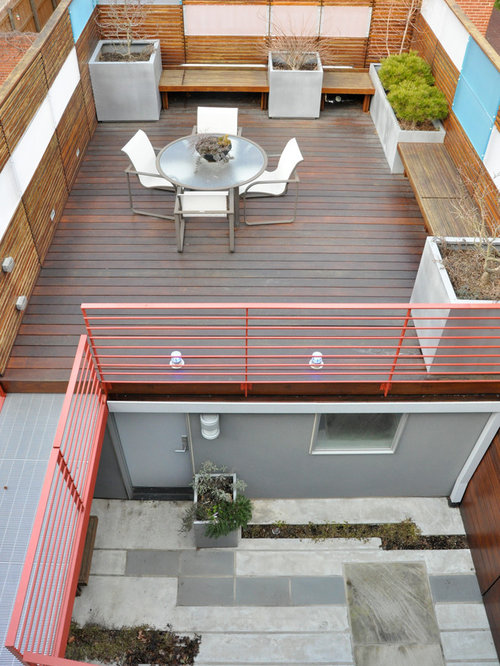 Garage top deck houzz for Roof deck design