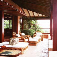 Tropical Patio by Jennifer Bradford Davis Interior Design